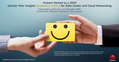 Huawei recibe el reconocimiento Gartner Peer Insights Customers' Choice 2020 –