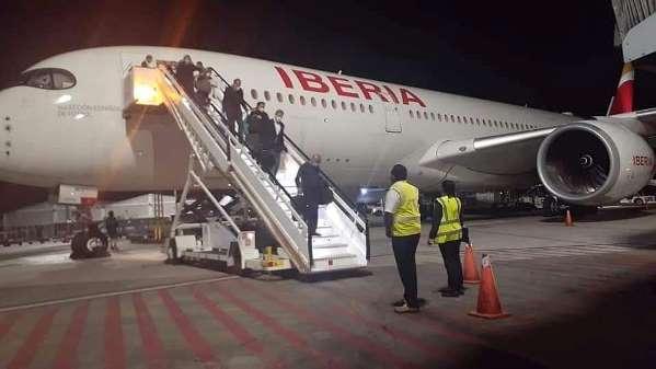 El Airbus A350 de Iberia aterriza por primera vez en Santo Domingo