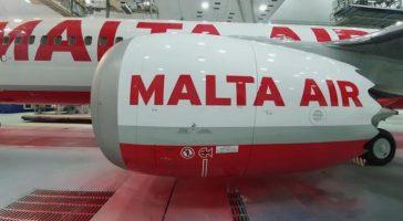 Primer avión de Ryanair con los colores de Malta