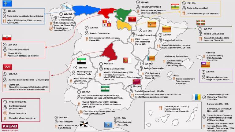 Semana Santa: mapa con las restricciones por comunidades