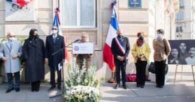Develan placa de las Hermanas Mirabal en París