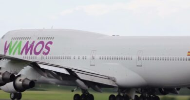 """Wamos Air dice adiós a su último """"Jumbo"""""""