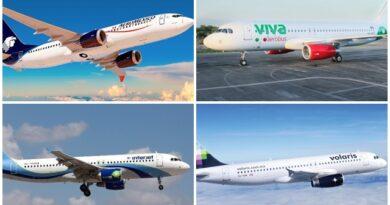 Interjet y Aeroméxico bajan flota mientras Viva y Volaris la suben
