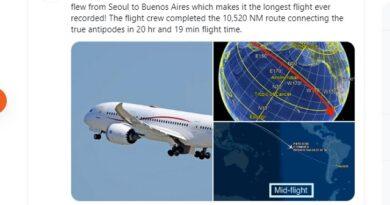 El vuelo más exhausto de la historia: más de 20 horas en el aire