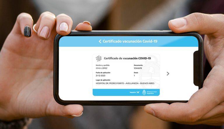 Argentina prepara su propio pasaporte sanitario en su 'app'