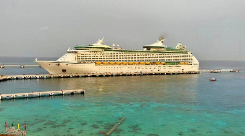 México: Adventure of the Seas marca reinicio de actividad de cruceros en Cozumel