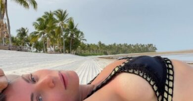 Actriz Ludwika Paleta disfruta de playa en República Dominicana