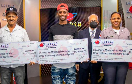 Leidsa entrega 38 millones a tres nuevos millonarios