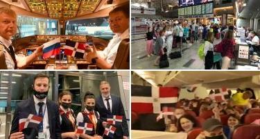 Enlace Moscú-La Romana marca reinicio de vuelos de Rusia a RD