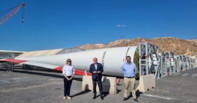 España: Puerto de Almería prepara embarque de palas eólicas con destino a Alemania